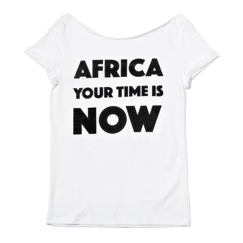 Africa your time is NOW adult t-shirt (white customized)