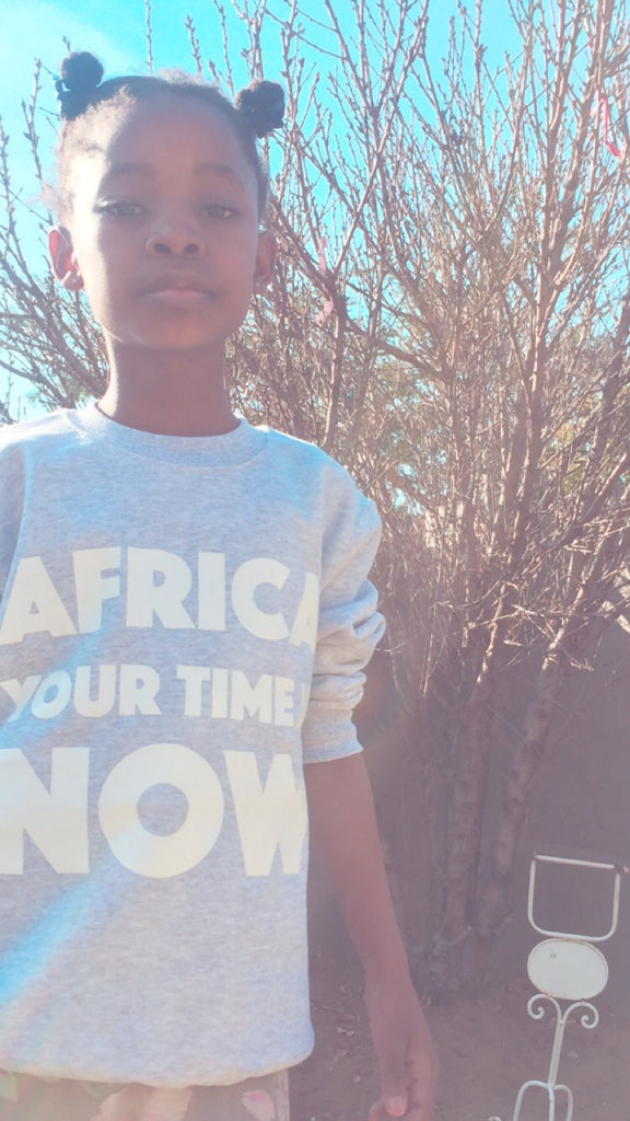 Mini 'Africa Your Time Is Now' sweaters