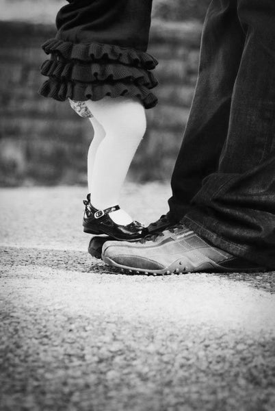 dancing on dad's feet
