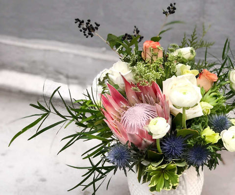 Protea Flower Vase Arrangement