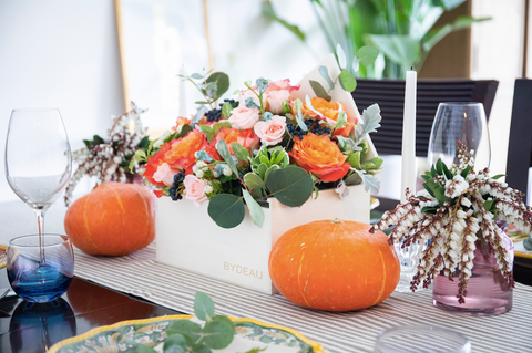 thanksgiving flowers table decor