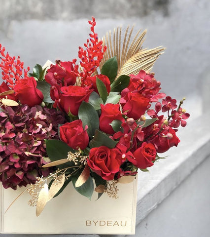 The Firecracker Red Rose Valentines Day Flower Box | BYDEAU Hong Kong