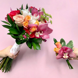 The Blush Pink Wedding Bouquet and Boutonniere | BYDEAU Hong Kong