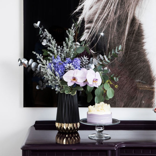 The Bethany | Purple Hyacinth Moth Orchid Bouquet | BYDEAU Hong Kong