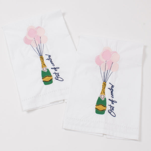 Out of Control Embroidered Bar Towels | Gifts for Home | BYDEAU Hong Kong