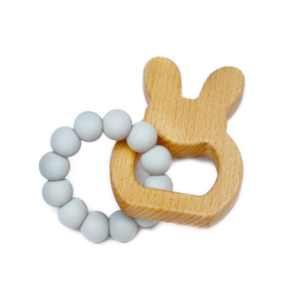 Natural Bubz Bunny teething toy | Unisex baby toy | BYDEAU