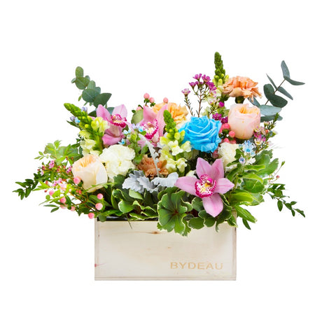 The Linnea | Roses and Cymbidium Flower Arrangement | BYDEAU Hong Kong