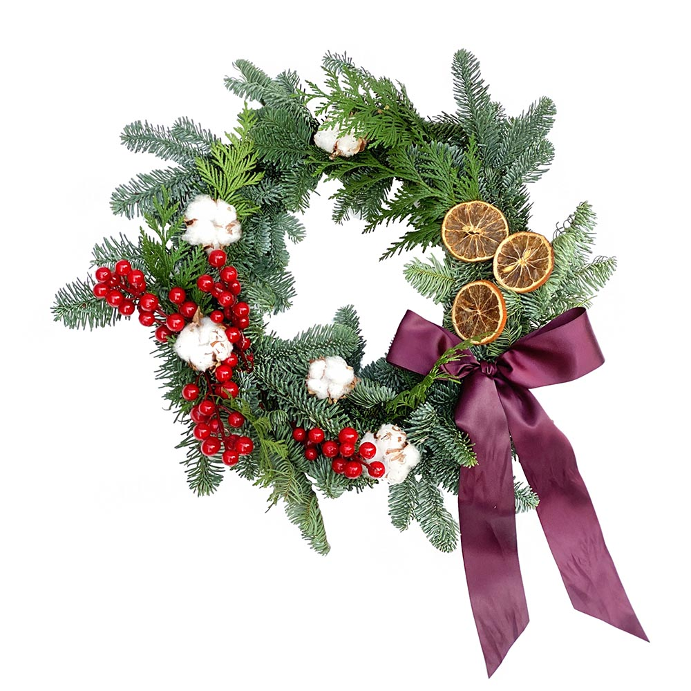 The Carol | Christmas Wreath with Dried Oranges | BYDEAU