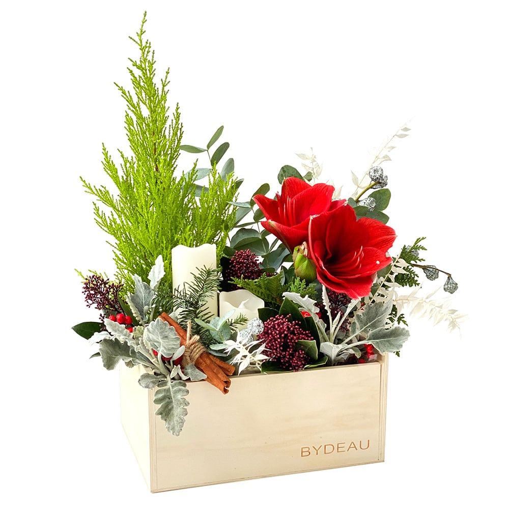 The Claus | Christmas flower box and candles | BYDEAU Hong Kong