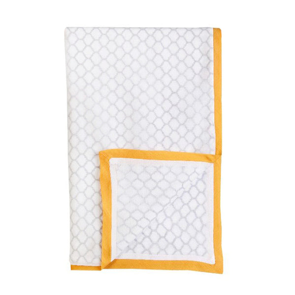Malabar Erawan Cotton Dohar (Yellow/Grey blanket) | BYDEAU Hong Kong