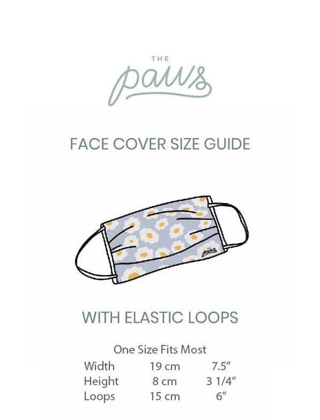 The Paws Cotton Face Covers | Packed in an individual clear sleeve | BYDEAU Hong Kong