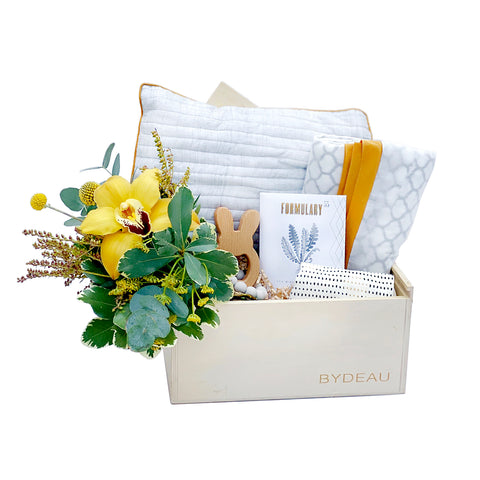 The Rock-a-bye Baby | receiving blanket baby gift box | BYDEAU