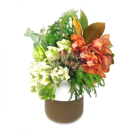 The Bailey Orchid Vase Arrangement | BYDEAU Hong Kong
