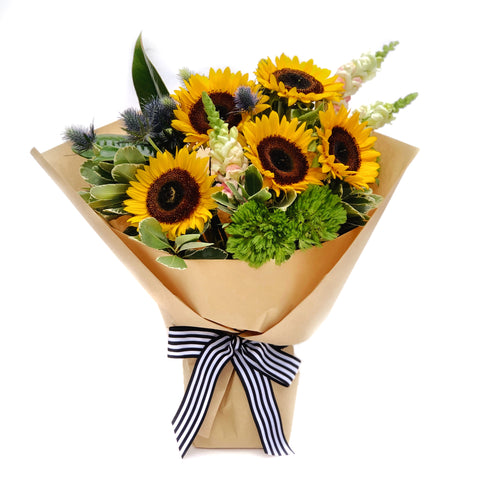 The Sunny | hand-tied sunflower