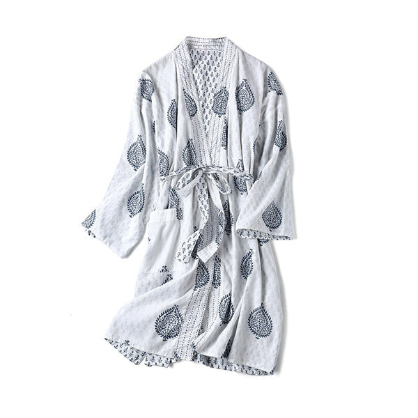Malabar Block Printed Reversible Robe - Fort | BYDEAU Hong Kong