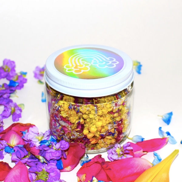 Plant Makeup Rainbow Flower Salts | Natural | Handmade | BYDEAU Hong Kong