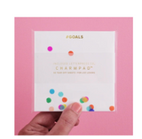 Charmpad with confetti | #GOALS | Desk Accessories | BYDEAU