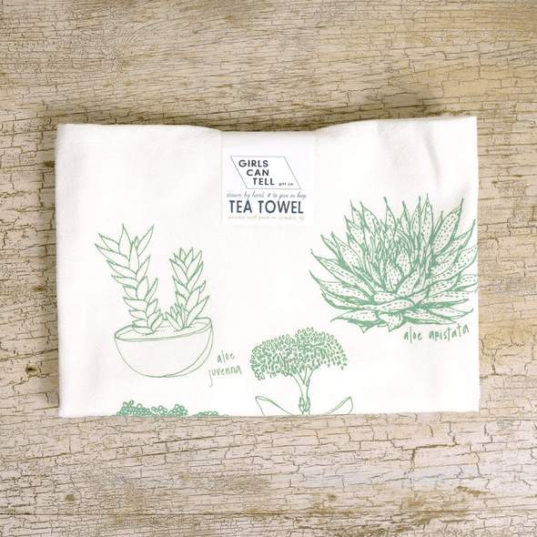 Succulents Tea Towel | Gifts for Home | BYDEAU Hong Kong