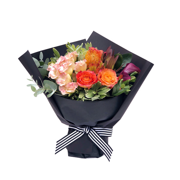 The Aperol Orange Rose Bouquet Medium | BYDEAU Hong Kong