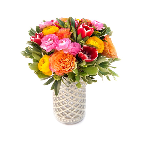 The Sophia Rose + Tulip Vase Arrangement