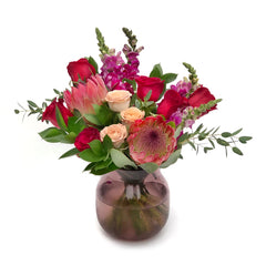 The Zahara Rose Protea Vase Arrangement | BYDEAU Hong Kong