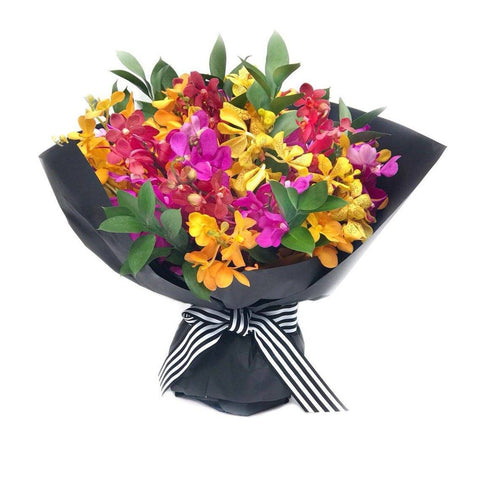 colourful orchid bouquet Handheld Arrangement - The Rio Rio