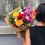 Rose Autumn Inspired Flower Arrangement | Hong Kong Same Day Delivery | BYDEAU