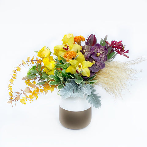 The Kylie | Colorful Orchid Flowers in Vase | BYDEAU Hong Kong