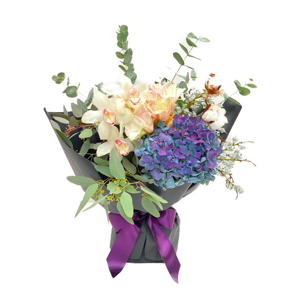 The Quinn | Hydrangea Orchid Flower Arrangement | BYDEAU Hong Kong