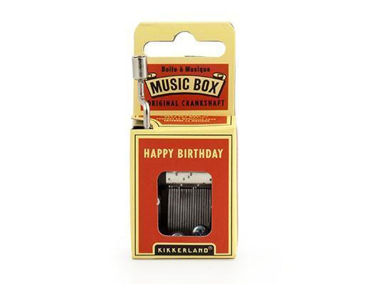 Kikkerland Miniature Music Box Birthday Gift Hong Kong