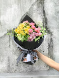 alstromeria pink roses mothers day fresh flowers hong kong - The Claire