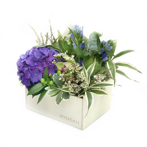 purple hydrangeas orchid summer flower box hong kong - The Miami