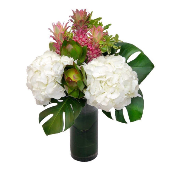 mini pineapple hydrangeas vase arrangement same day delivery hong kong - The Pina Colada