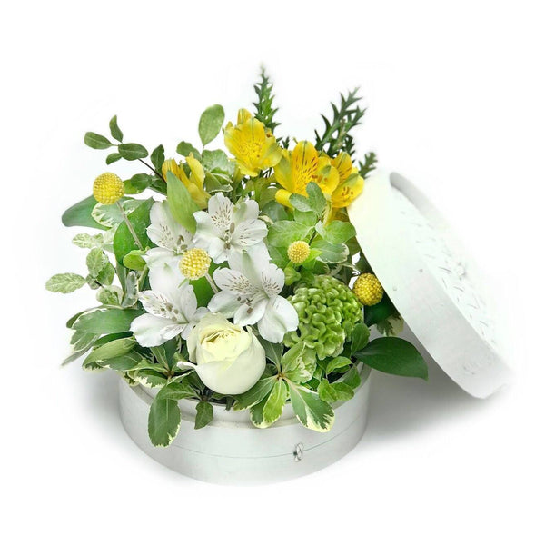white roses yellow summer flowers same day delivery hong kong - The Pippa