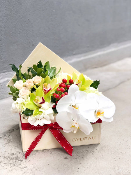 Christmas Orchid Flower Box