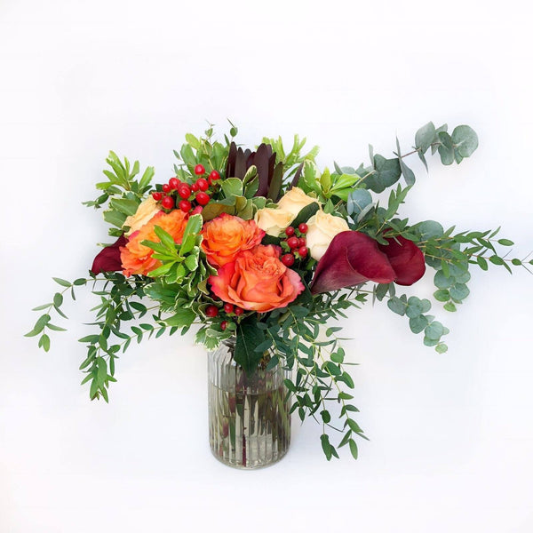 Calla Lily & Rose Flower Vase Arrangement | BYDEAU Hong Kong