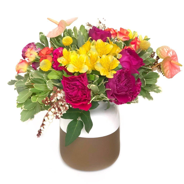 autumn rose vase arrangement hong kong delivery - The Rosa