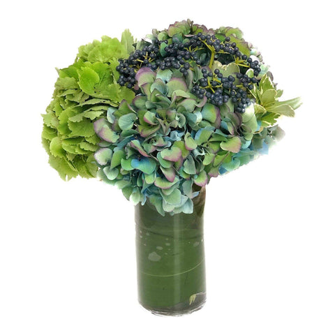 Blue Hydrangea Vase Arrangement - The Southampton