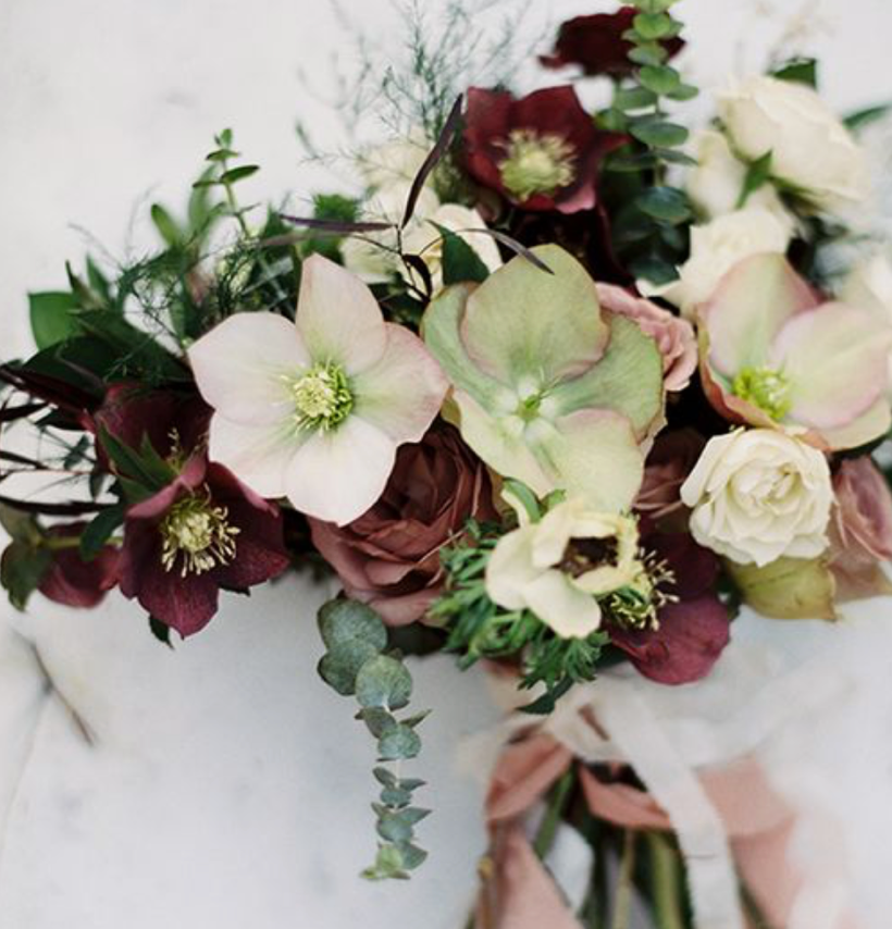 Bridal Hellebore Bouquet