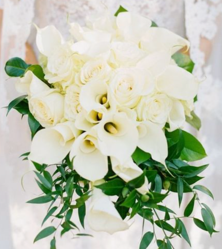 white calla lily bridal flowers