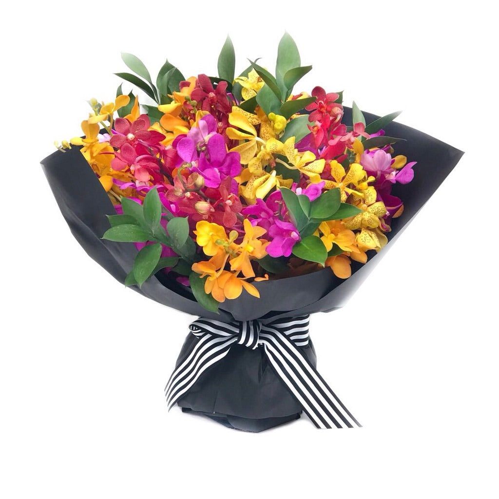 Yellow Pink Red Mokara Orchid The Rio Rio Hong Kong Bouquet Orchids Colorful