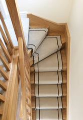 The quality of the stair runner is exceptional I can't recommend them enough....