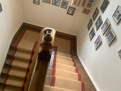 Brintons Carpets Bell Twist Egyptian Sand & Cajun Spice with Invicta Rope Stair Runner