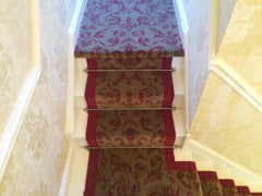 Brintons Carpets Renaissance Classics Medici Ruby with Bell Twist Ruby Border