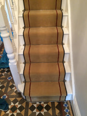 Brintons Carpets Majestic Florentine Gold amp Chilli Stair