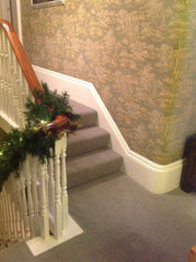 Ulster Carpets Grange Wilton Heron/Brunel/Silversmith Bespoke Stair Runner with Matching Rugs and Landing Carpets