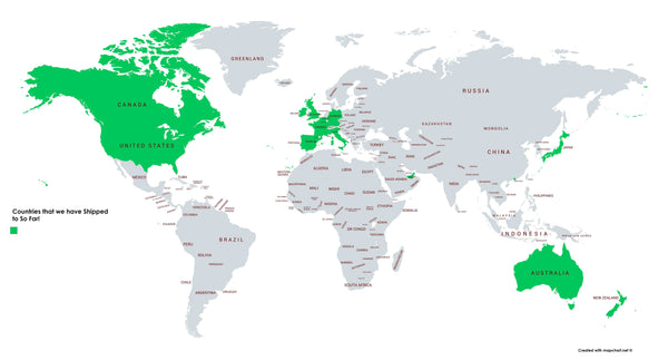 Countries Shipped to So Far