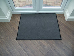 Brintons Carpets Bell Twist Smoke with Black Overlocking Rug