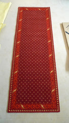 Brintons Carpets Marquis Regal Red Diamond with Border Hall Rug Runner