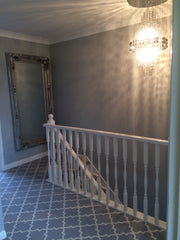 Axminster Carpets Royal Borough Collection Trellis Windsor Mid Steel Grey Hall Carpet